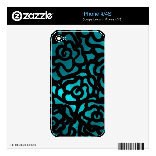teal rose phone skin skin for the iPhone 4