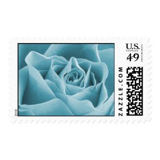 Teal Rose Stamp