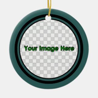 Teal Round 2 Keepsake Christmas Ornaments