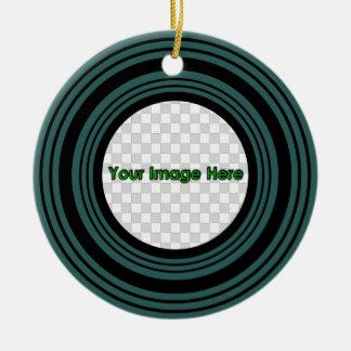 Teal Round 3* Keepsake Ornament