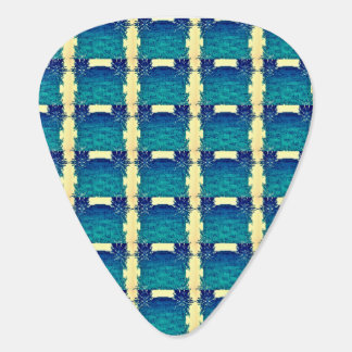 Teal Round Chains Guitar Pick