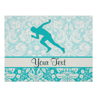 Teal Running Poster