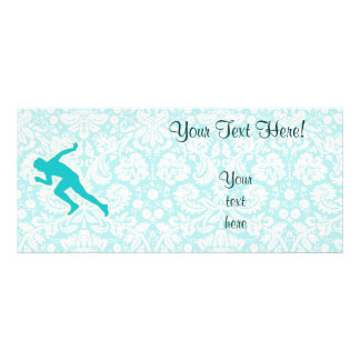 Teal Running Personalized Rack Card