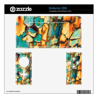 Teal Rust Skin For The Nintendo 3DS