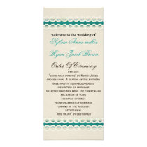 Teal Rustic burlap and lace country wedding Rack Card