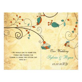 Teal Rustic Vintage Floral Wedding Flyer