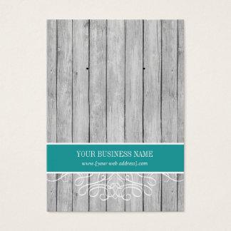 Teal Rustic Wood Custom Earring Card