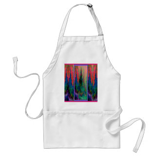 Teal-Salmon Forest Cathedral Spires Gifts-Sharles Adult Apron