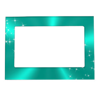 TEAL SATIN MAGNETIC FRAME
