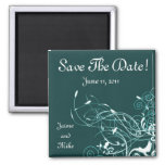 Teal Save The Date Magnet