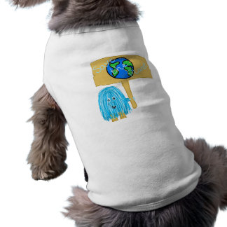 Teal Save The Planet Pet T-shirt