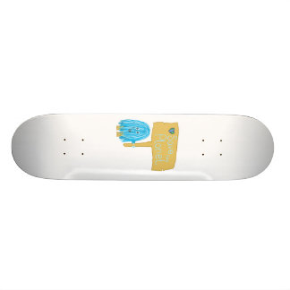 Teal Save the Planet Custom Skate Board