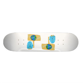 Teal Save The Planet Skateboard Decks