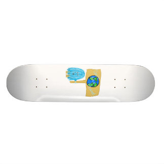 Teal Save The Planet Skate Boards