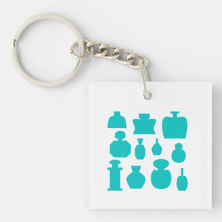 Teal Scent Bottles. Keychain