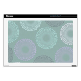 Teal Sea Foam Green Lace Doily Decals For Laptops
