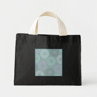 Teal Sea Foam Green Lace Doily Small Black Canvas Bags