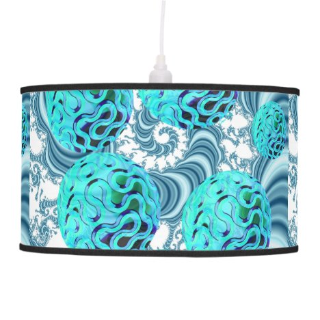 Teal Sea Forest, Abstract Underwater Ocean Hanging Lamp