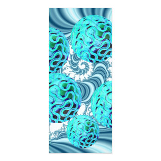 Teal Sea Forest, Abstract Underwater Ocean Custom Invitation