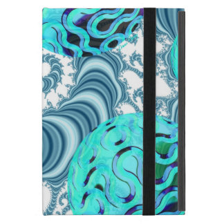 Teal Sea Forest, Abstract Underwater Ocean iPad Mini Cover