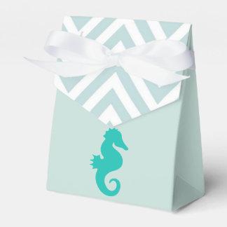 Teal Seahorse Beach Theme Baby Shower Favor Box