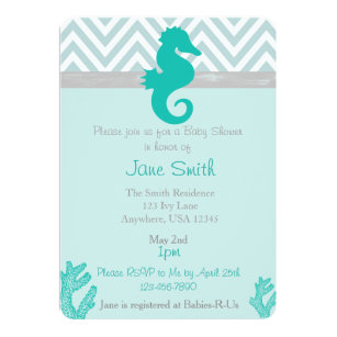 Beach Baby Shower Invitations Announcements Zazzle