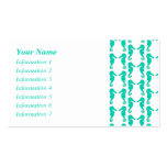 Teal Seahorse Pattern Double-Sided Standard Business Cards (Pack Of 100)