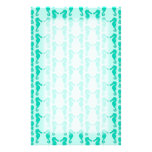 Teal Seahorse Pattern Customized Stationery