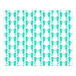 Teal Seahorse Pattern Flyers