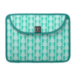 Teal Seahorse Pattern Sleeve For MacBook Pro