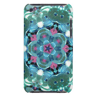 Teal Sequin Kaleidoscope Barely There iPod Covers
