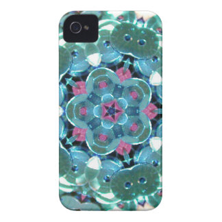 Teal Sequin Kaleidoscope Case-Mate iPhone 4 Cases