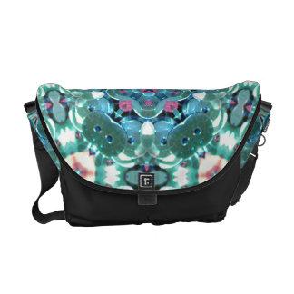 Teal Sequin Kaleidoscope Messenger Bag