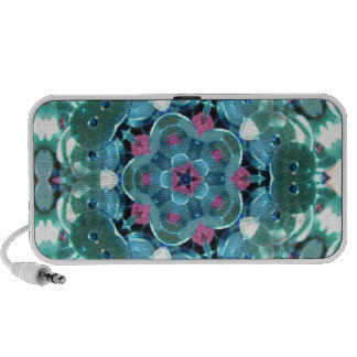 Teal Sequin Kaleidoscope Travelling Speaker