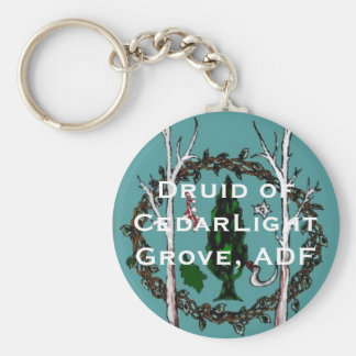 Teal sigil with CLG text Basic Round Button Keychain
