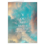 Teal Sky Blue Love Quote Greeting Card