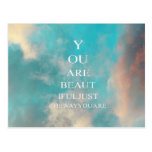 Teal Sky Blue Love Quote Postcards