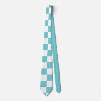 Teal Sky Checkerboard Neck Tie