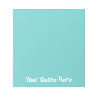 Teal Sky Colored Notepad