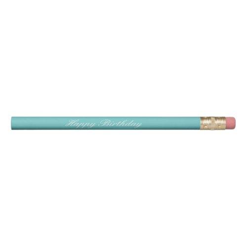 Teal Sky Happy Birthday Pencils