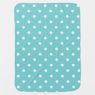 Teal Sky Polka Dot Baby Blanket
