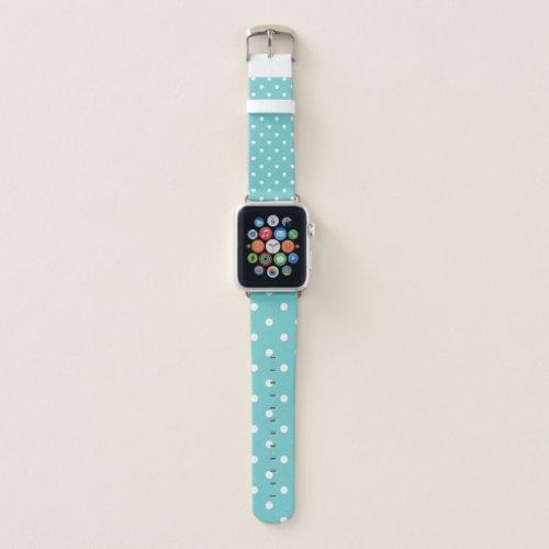 Teal Sky Polka Dots Apple Watch Band