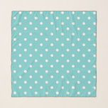 """Teal Sky Polka Dots Scarf<br><div class=""""desc"""">This gorgeous shade of blue could be found in a sky on any given day, as the sky changes hues frequently. In any case we couldn't resist giving it a fun name like teal sky. We of course, made a matching polka dot pattern to give you the option between solid...</div>"""