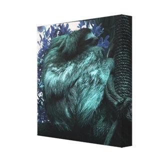 Teal Sloth Canvas Print