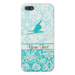 Teal Snow Skiing Cover For iPhone 5/5S