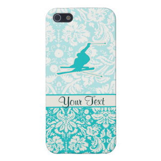 Teal Snow Skiing iPhone 5 Case