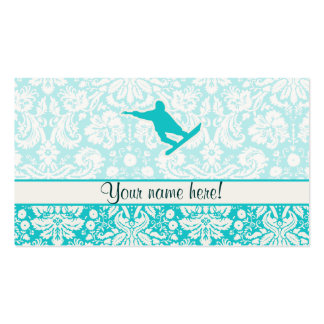Teal Snowboarding Business Card