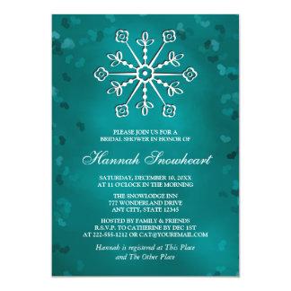 TEAL SNOWFLAKE BRIDAL SHOWER CARD