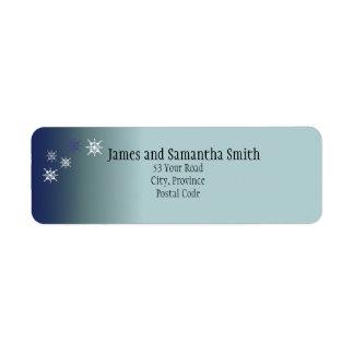 Teal Snowy Return Address Labels