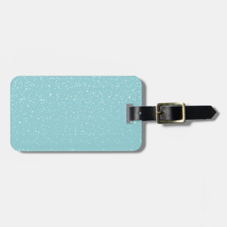 Teal  Snowy Warm Winter Wonderland Bag Tag